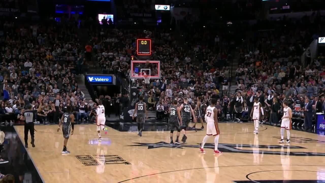 Melhores momentos: Miami Heat 110 x 105 San Antonio Spurs pela NBA