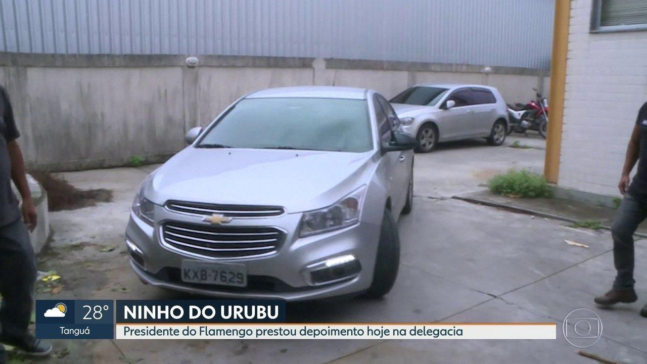 Presidente e vice presidente do Flamengo prestaram depoimento