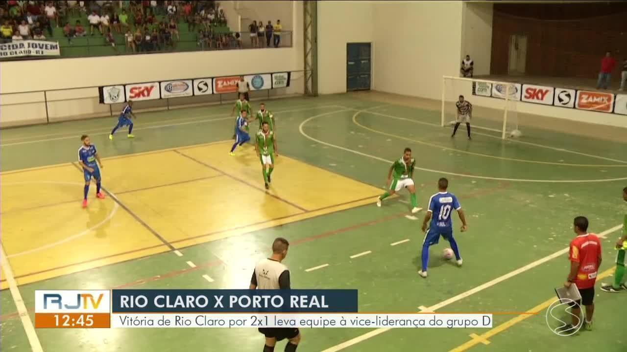 Em jogo de poucos gols, Rio Claro vence a primeira ao bater Porto Real por 2 a 1