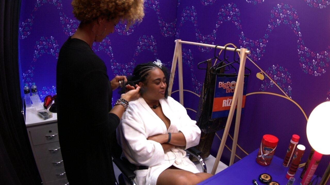 Rízia avisa sobre a Transformação Embelleze: 'Vou ficar do jeito que eu estou até a Final