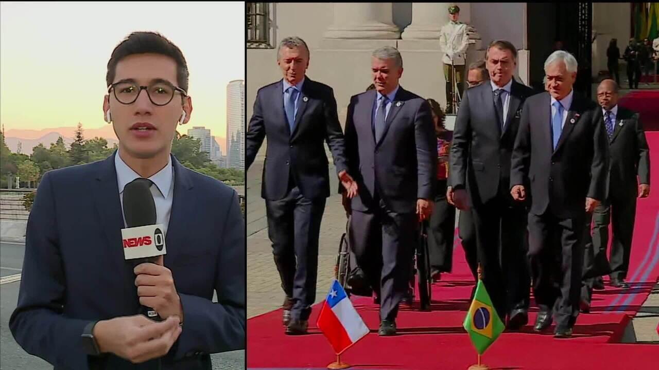 Presidente Jair Bolsonaro terá encontro bilateral com presidente chileno