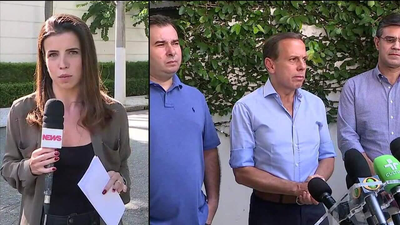 João Doria declara apoio a Rodrigo Maia na condução da reforma da Previdência