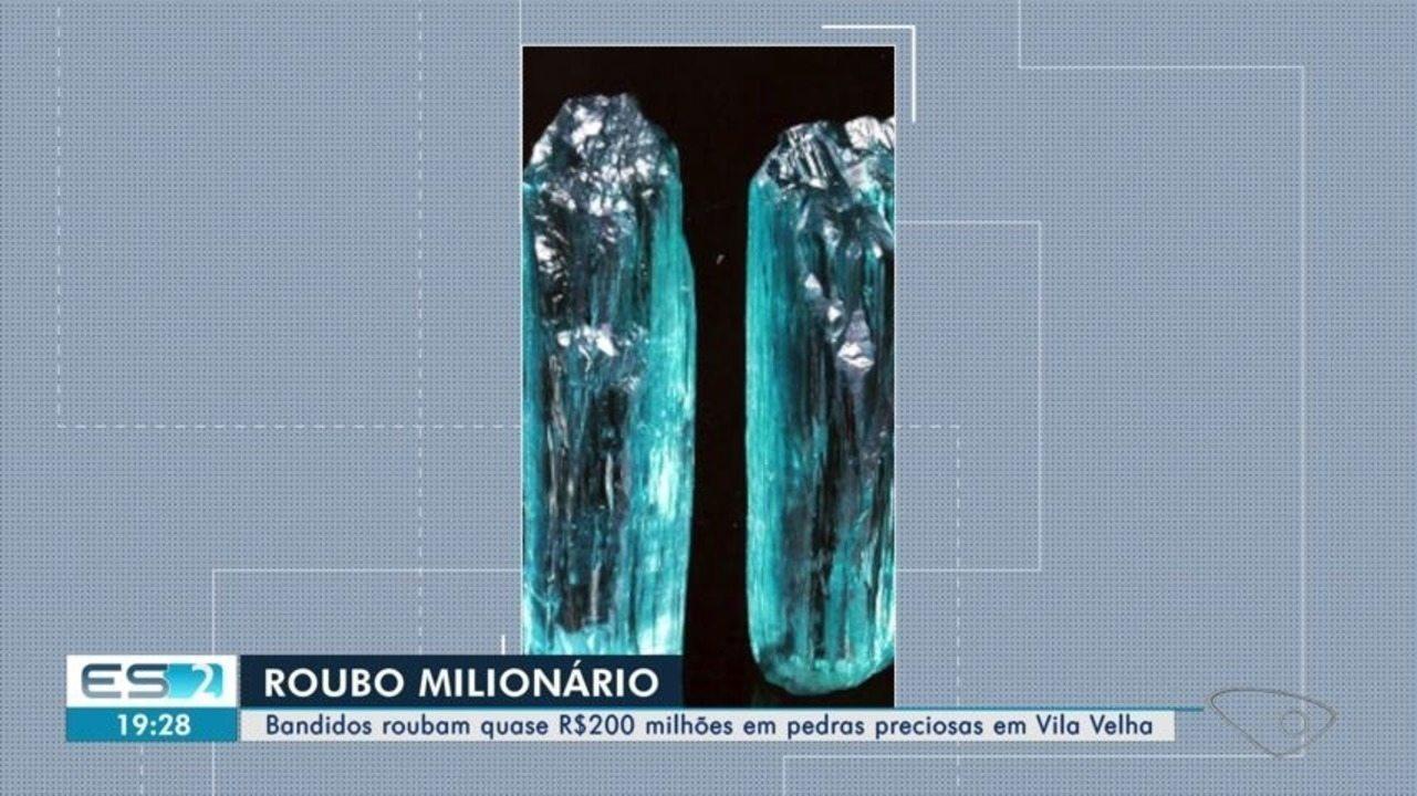 Polícia investiga roubo de quase R$ 200 milhões em pedras preciosas no ES