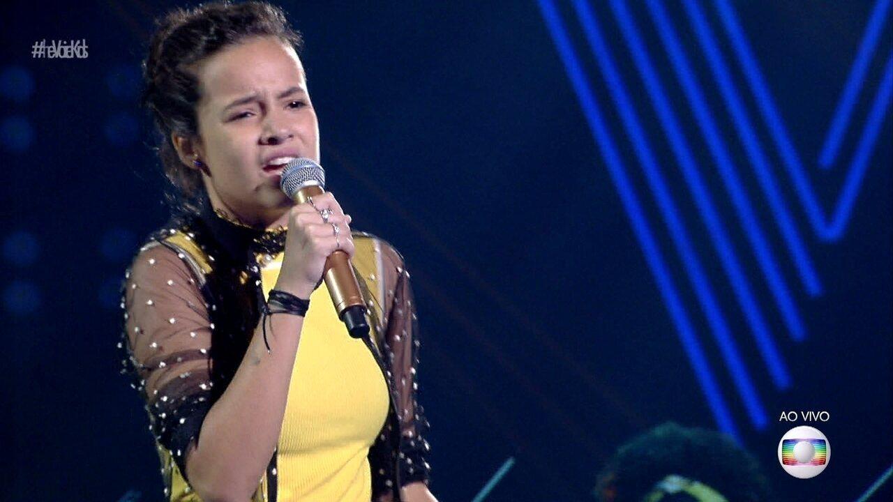 Malu Casanova canta 'Coleção' e se classifica para a semifinal do 'The Voice Kids'