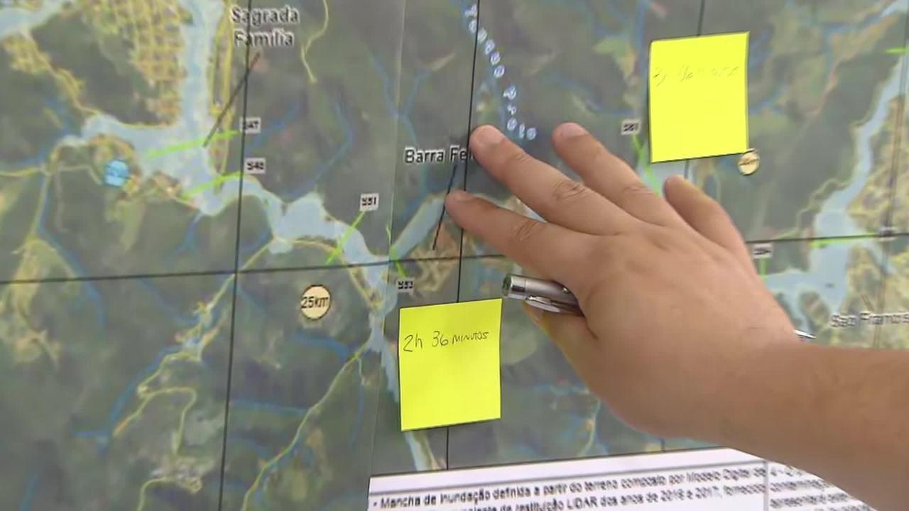 Defesa Civil explica área de salvamento secundário em Barão de Cocais