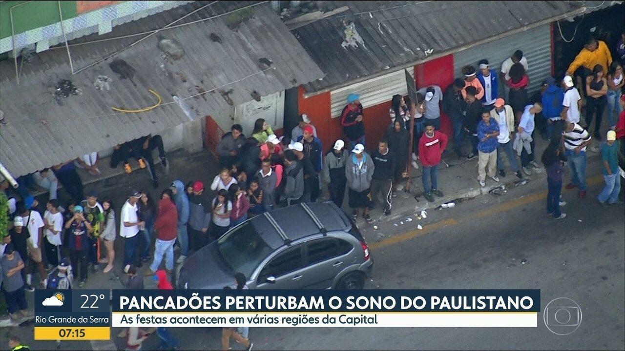 Pancadões incomodam moradores de SP e deixam sujeira
