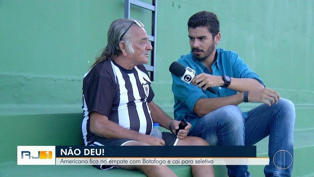 Americano x Botafogo: as emoções dos 90 minutos ao lado do Sr. Luiz