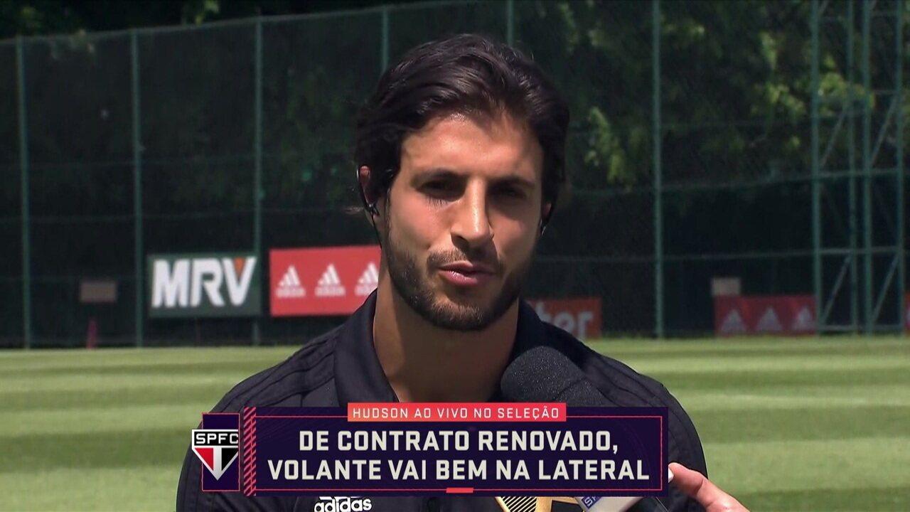 Hudson disse que estudou Martinelli e torce para volta do amigo Pato ao São Paulo
