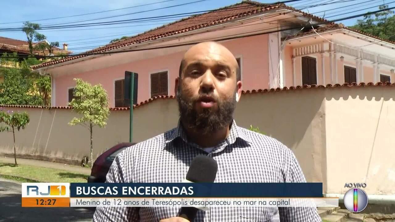 Bombeiros encerram buscas a adolescente de Teresópolis que desapareceu do mar no Rio