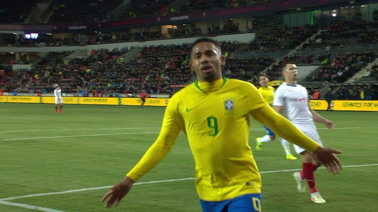 Os gols de República Tcheca 1 x 3 Brasil em Amistoso Internacional