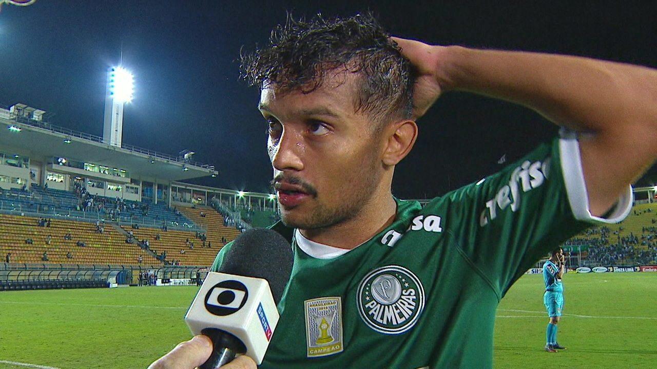 Scarpa dá entrevista depois da goleada do Palmeiras: