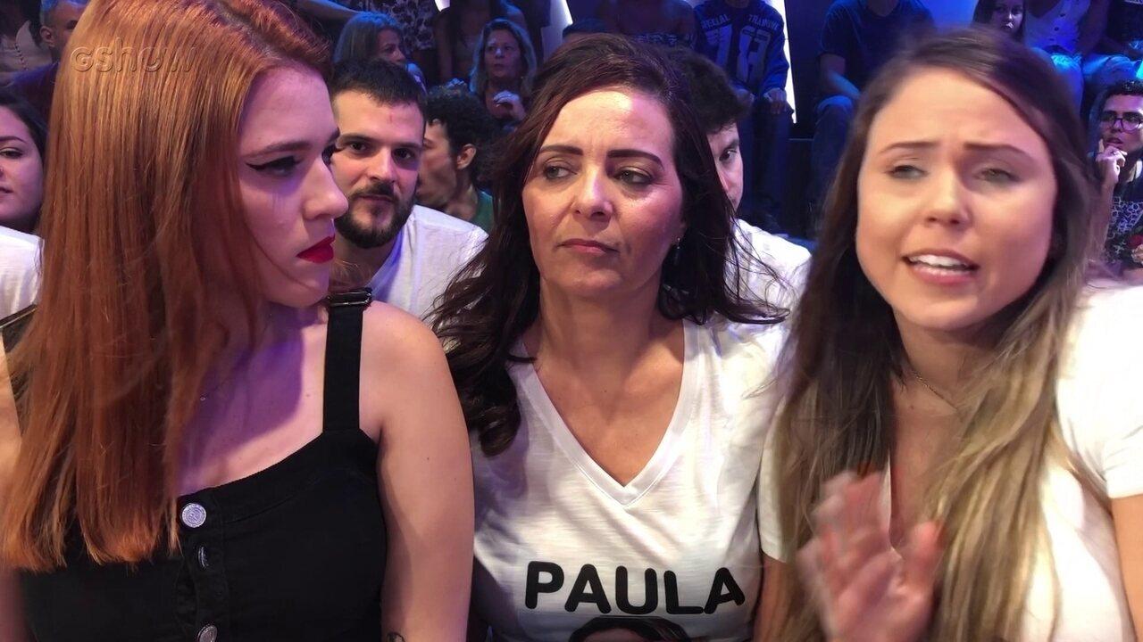 Ana Clara conversa com a família de Paula do BBB19