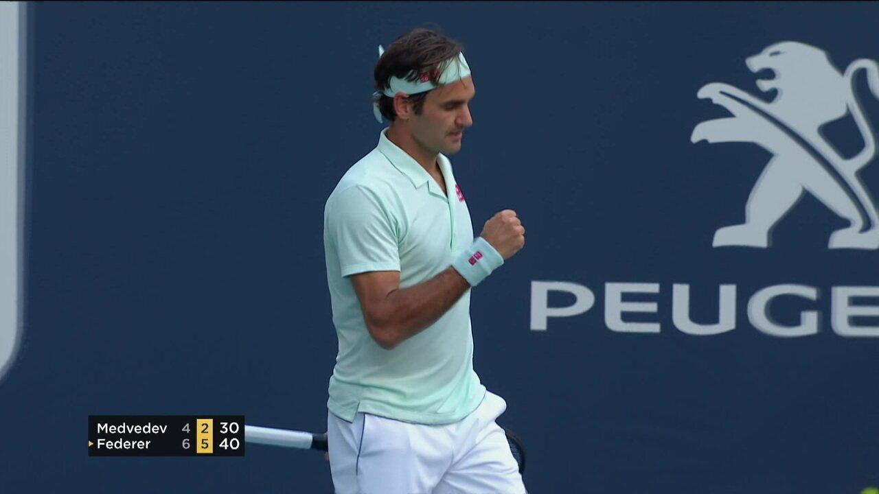 428dfeba36c Melhores momentos de Federer 2 x 0 Medvedev pelo Masters 1000 de Miami