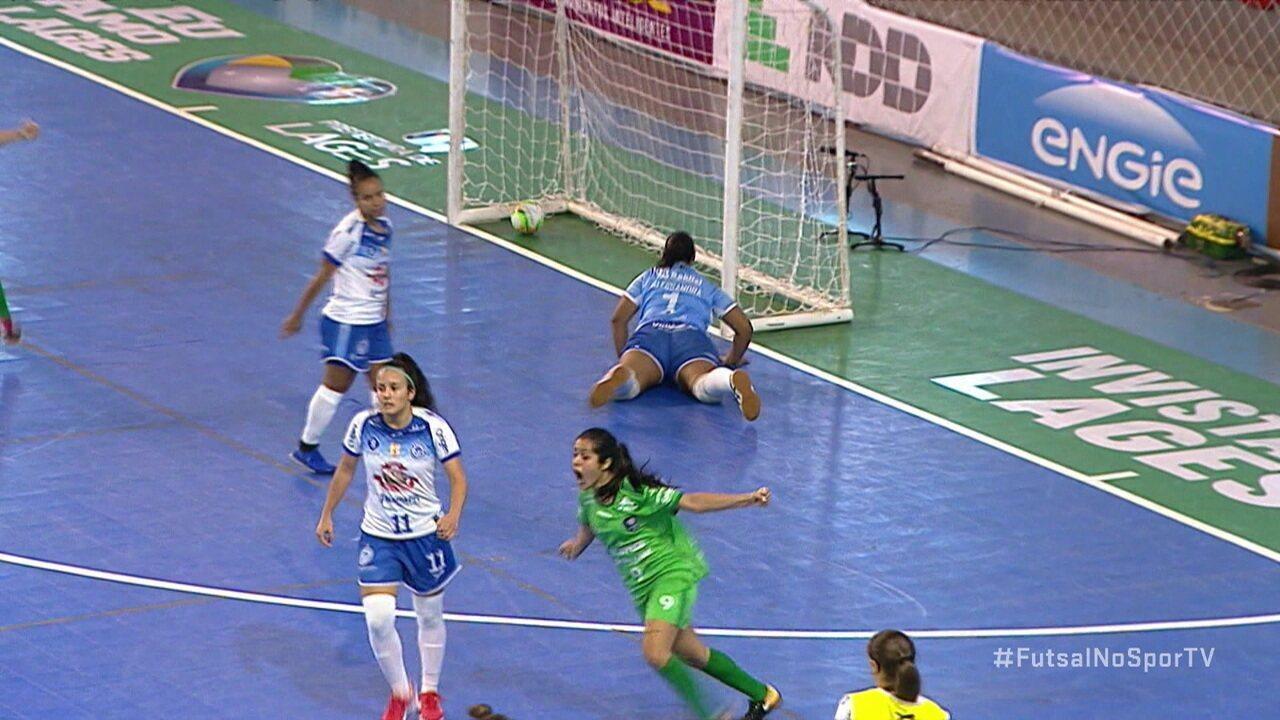 Os gols de Female 1 x 3 Uruguaiana na Copa das Campeãs de Futsal