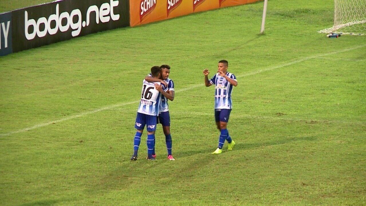 Os gols de Altos 1 x 2 CSA pela décima rodada da Copa do Nordeste