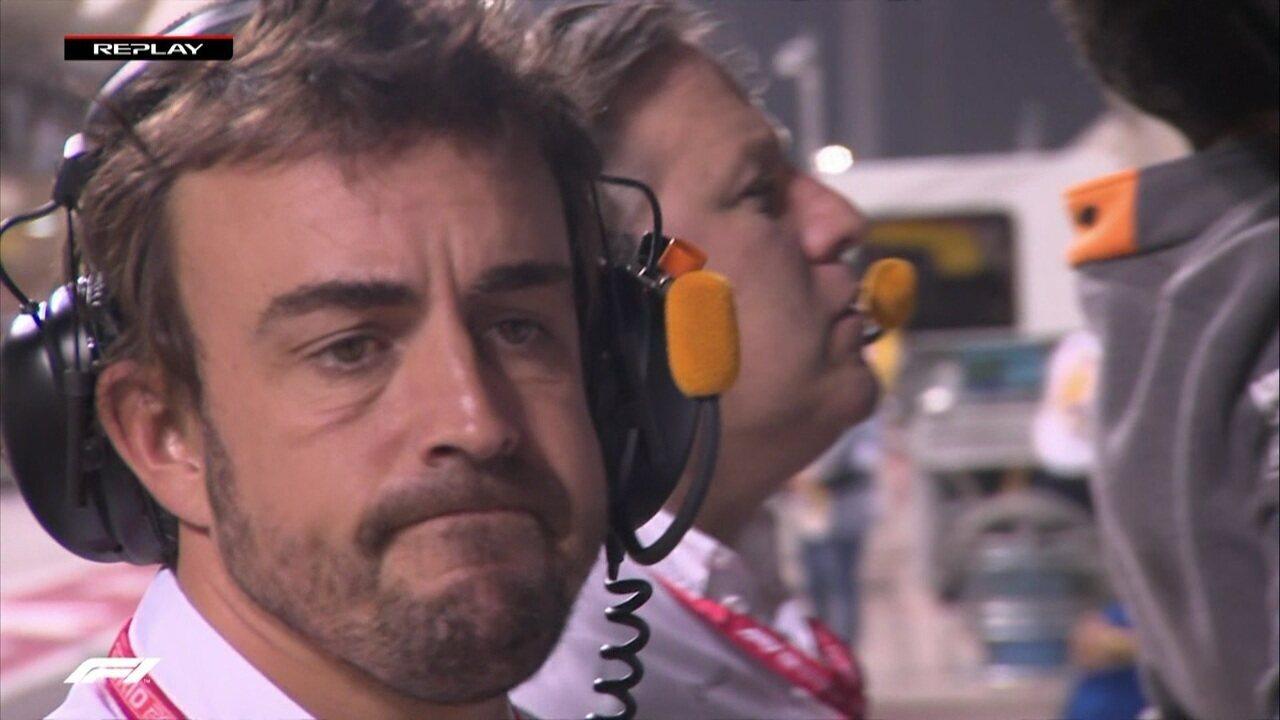 Alonso lamenta o problema do carro de Leclerc