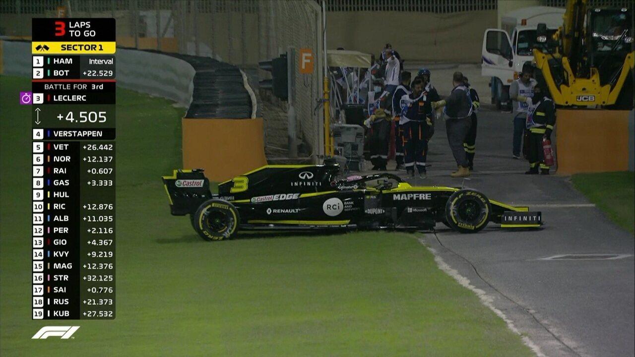 Hulkenberg e Ricciardo abandonam o GP do Barein ao mesmo tempo