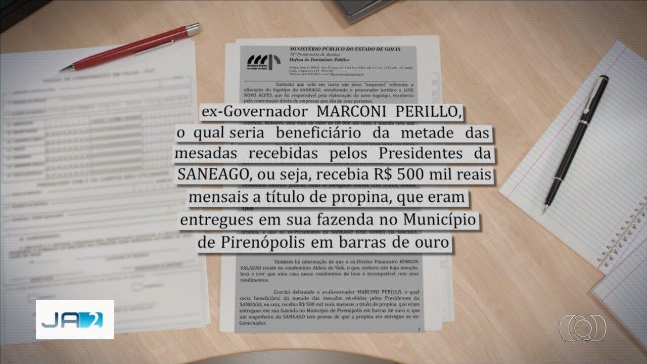 Denúncia anônima aponta que Marconi Perillo recebia propina em barras de ouro, em Goiás