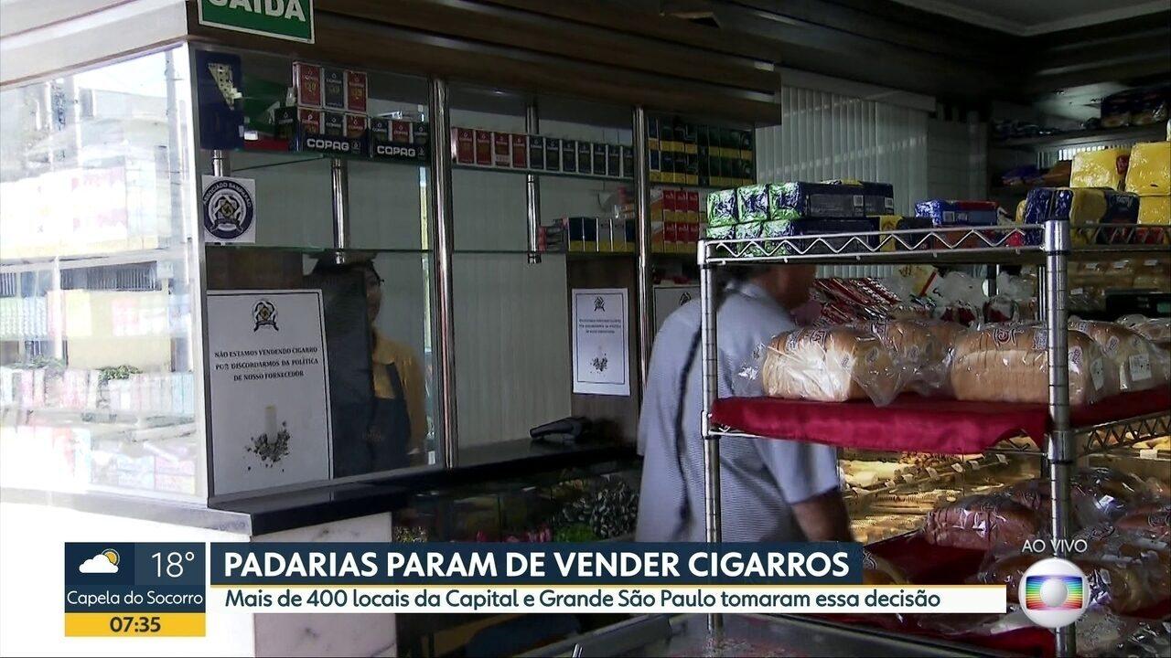 Padarias de São Paulo não vão mais vender cigarros