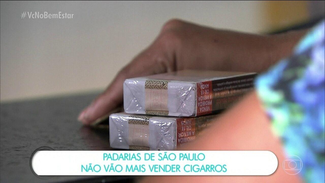 Padarias de São Paulo vão parar de vender cigarro