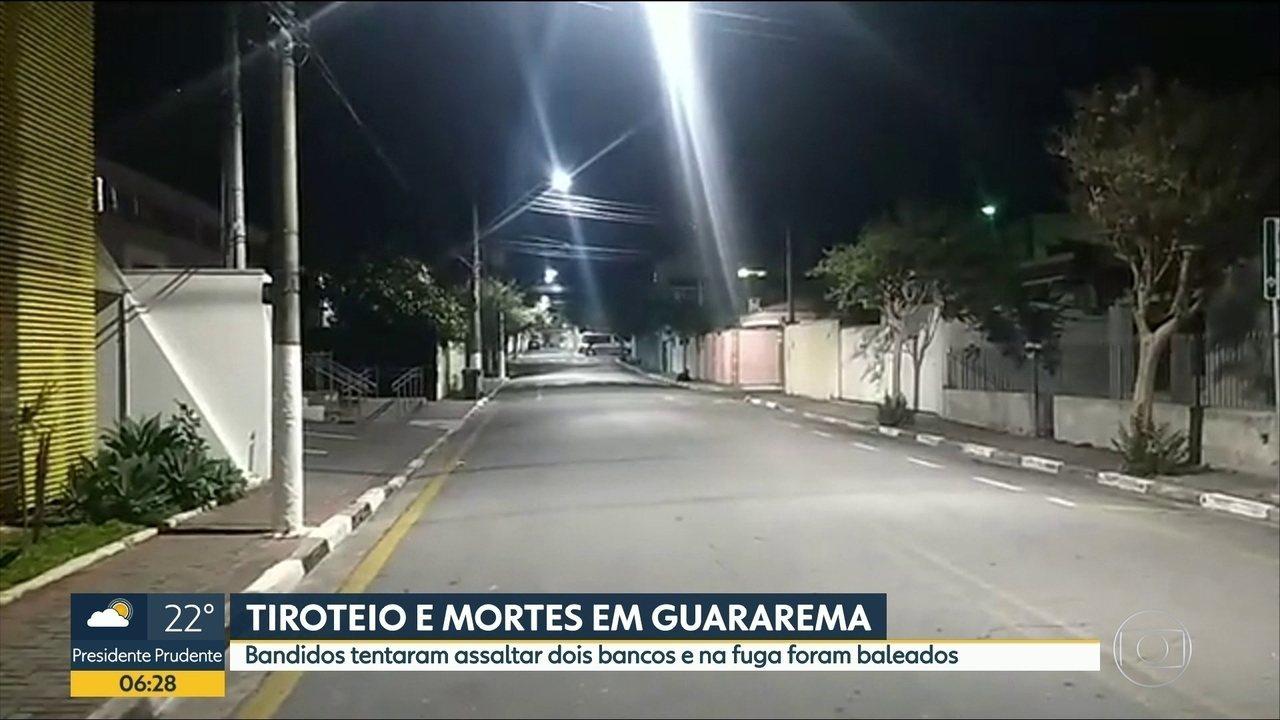 Criminosos atacam agências bancárias em Guararema