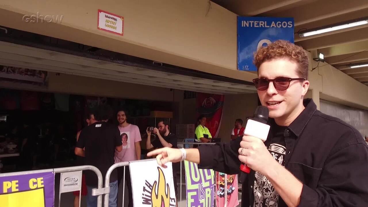 Thiago Fragoso mostra backstage das bandas no Lollapalooza