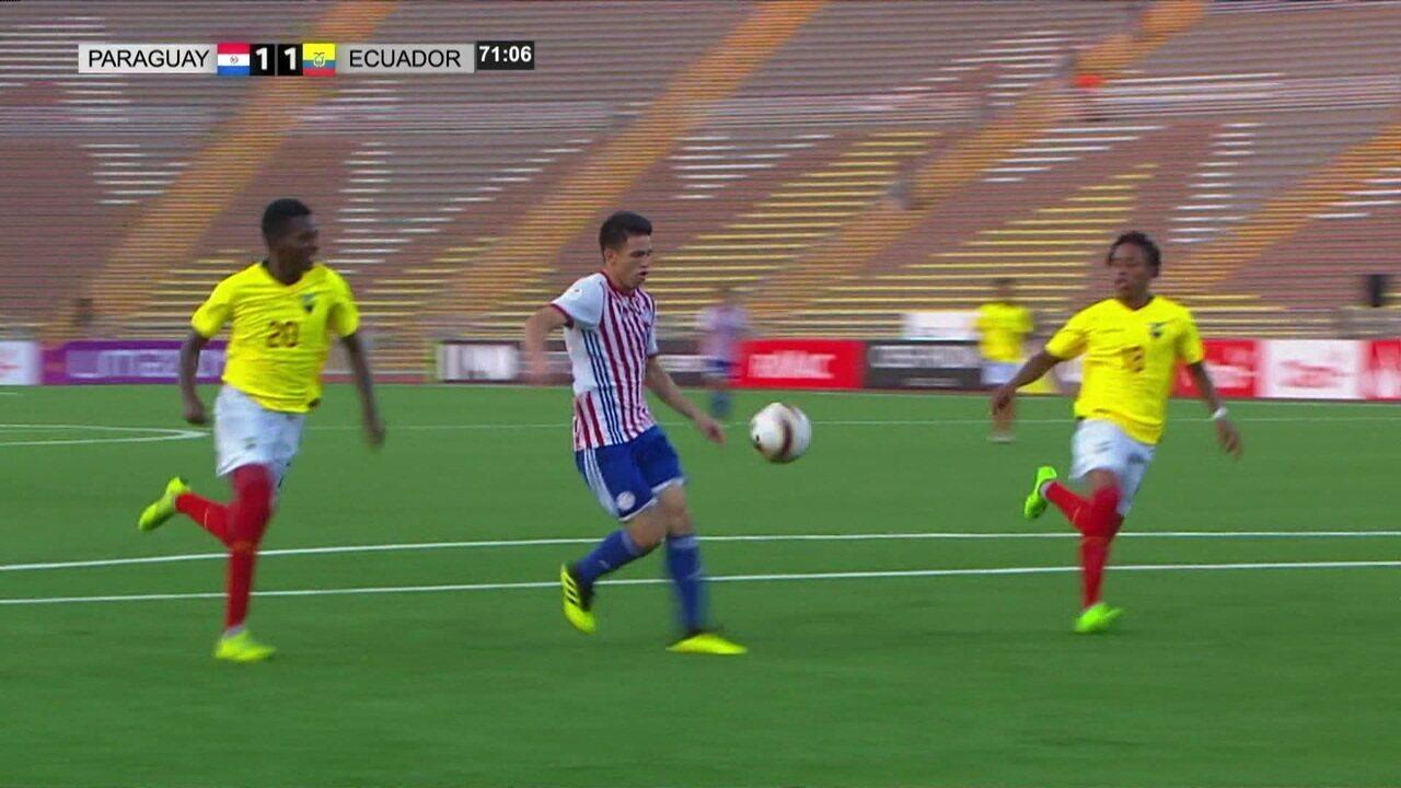 Os gols de Paraguai 1 x 1 Equador pelo Campeonato Sul-Americano Sub-17