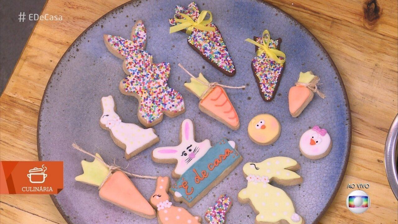 Carla Barbato ensina a fazer biscoito decorado para a Páscoa