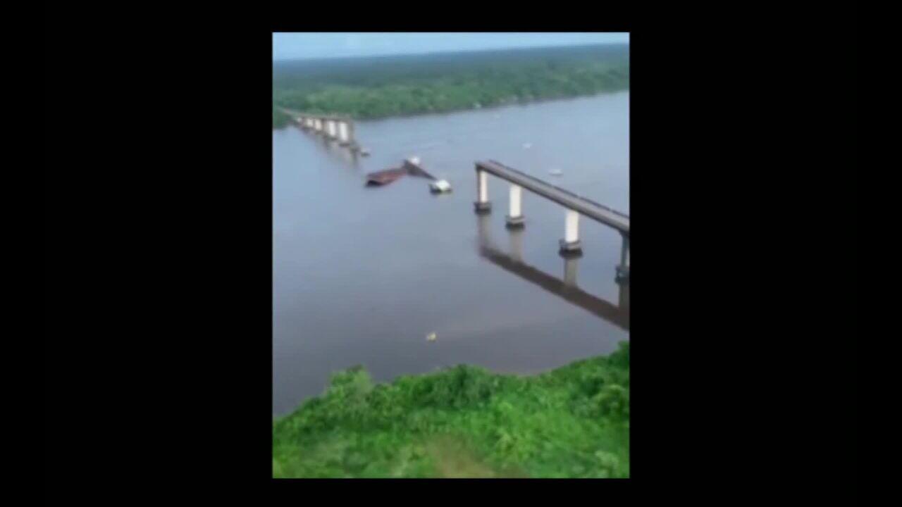 Ponte desaba no Pará e interrompe ligação com Nordeste no estado
