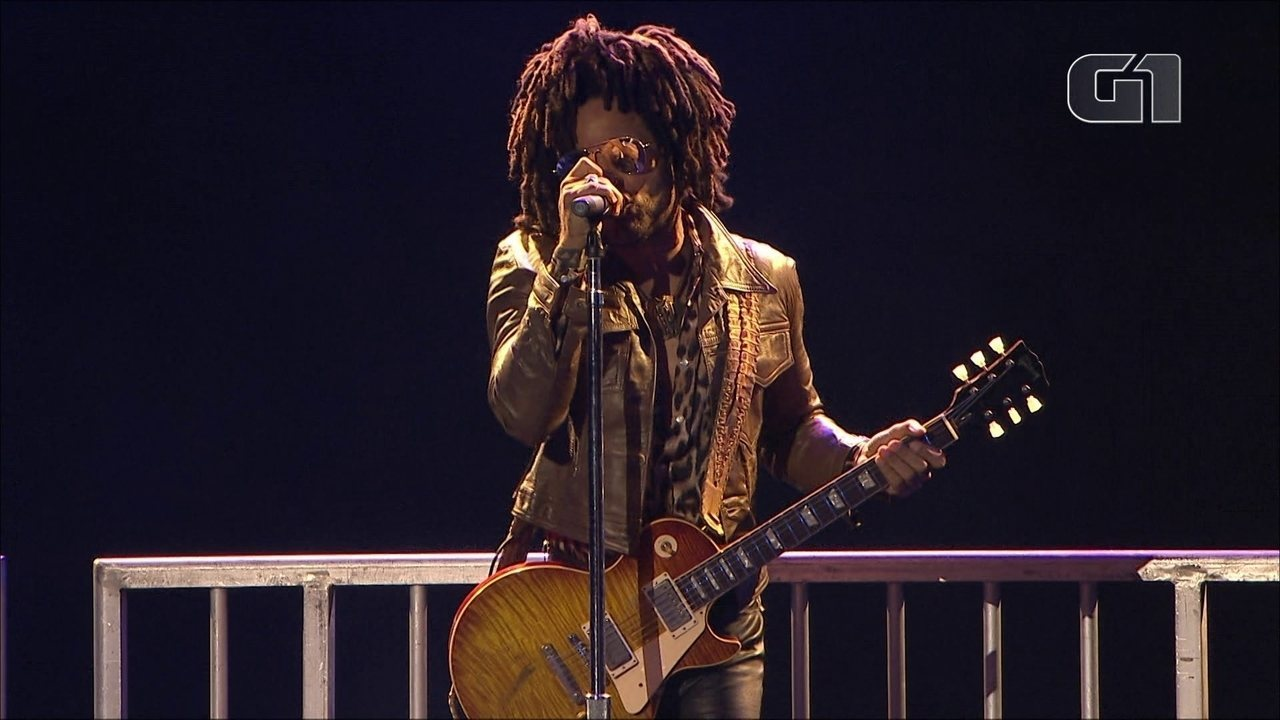 "Lenny Kravitz toca ""Fly Away"" no Lollapalooza 2019"