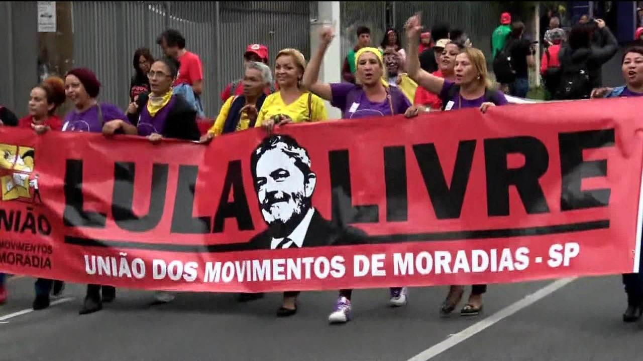 Prisão de Lula completa um ano e manifestantes vão às ruas
