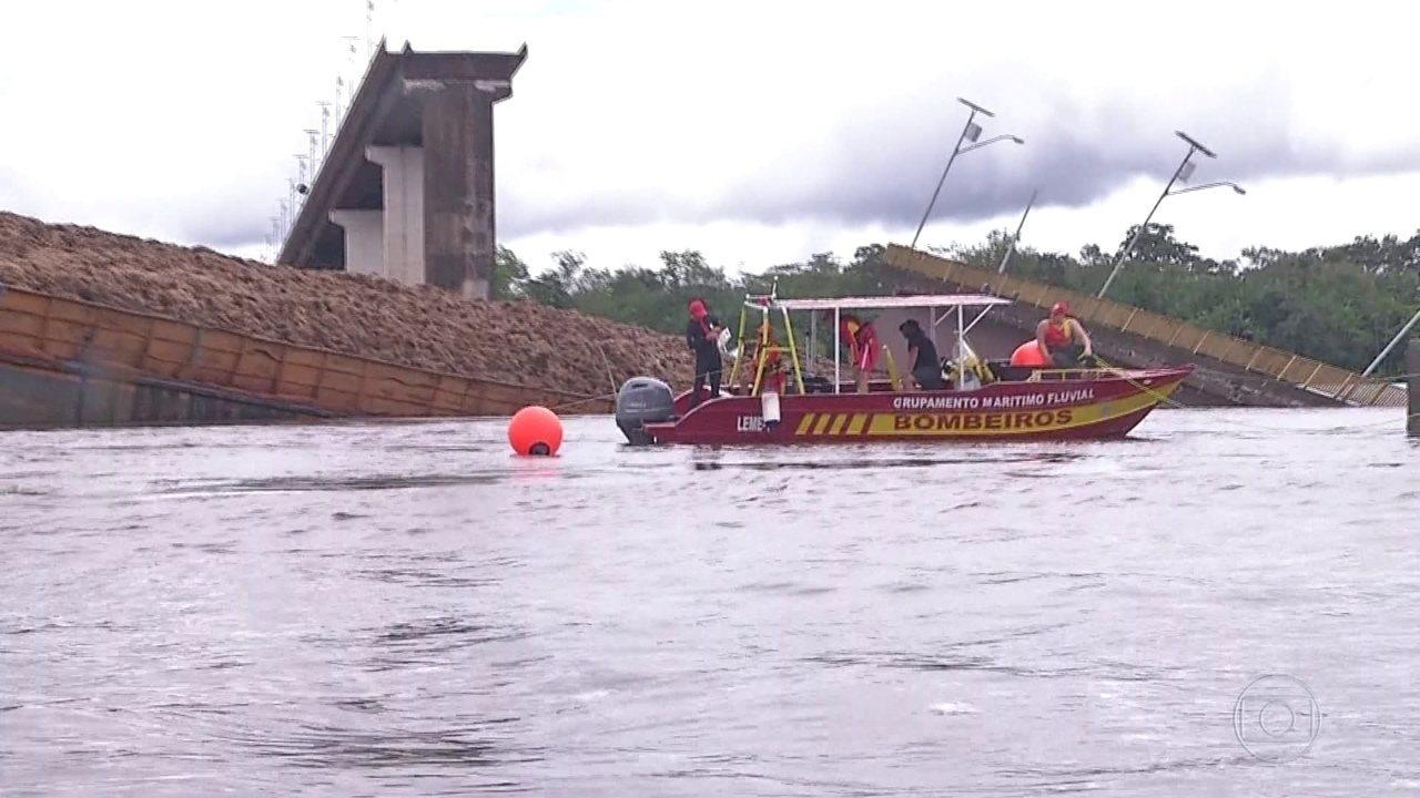 Equipes buscam por possíveis vítimas de desabamento de ponte no Pará