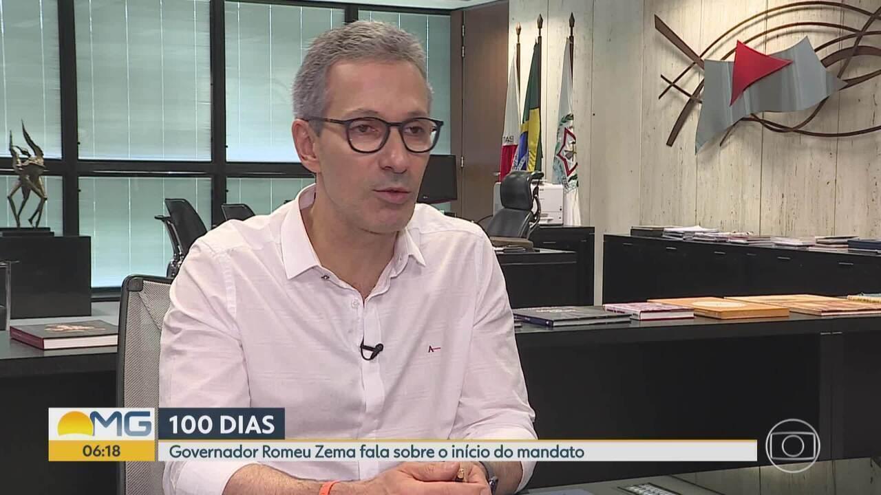 Cem dias: Governador Romeu Zema fala sobre início do mandato