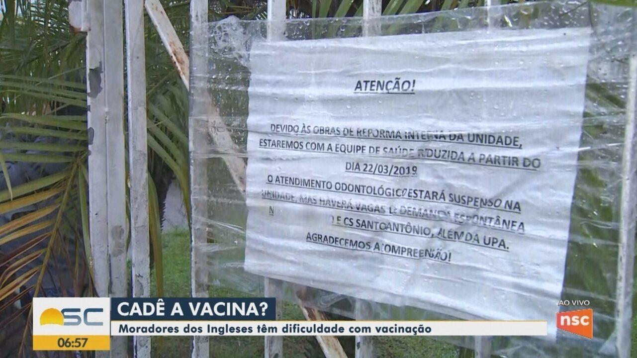 Moradores de Florianópolis têm dificuldades com vacinação
