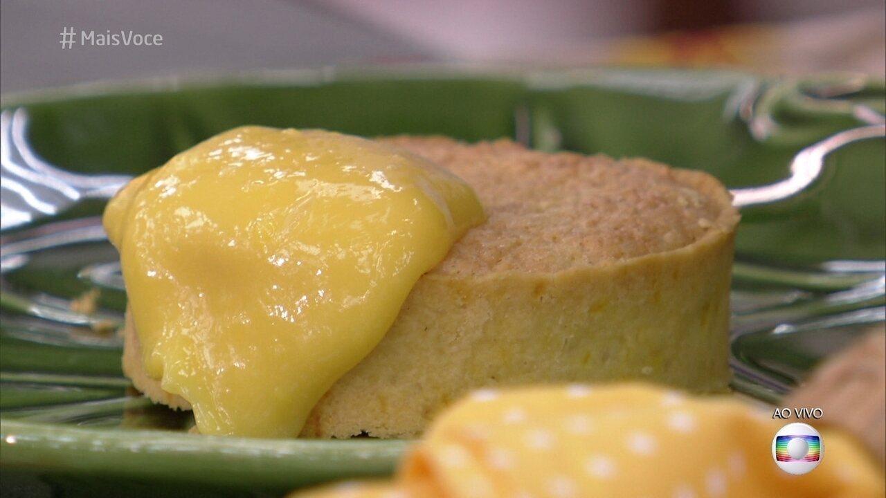Torta Frangipane com Creme de Tangerina