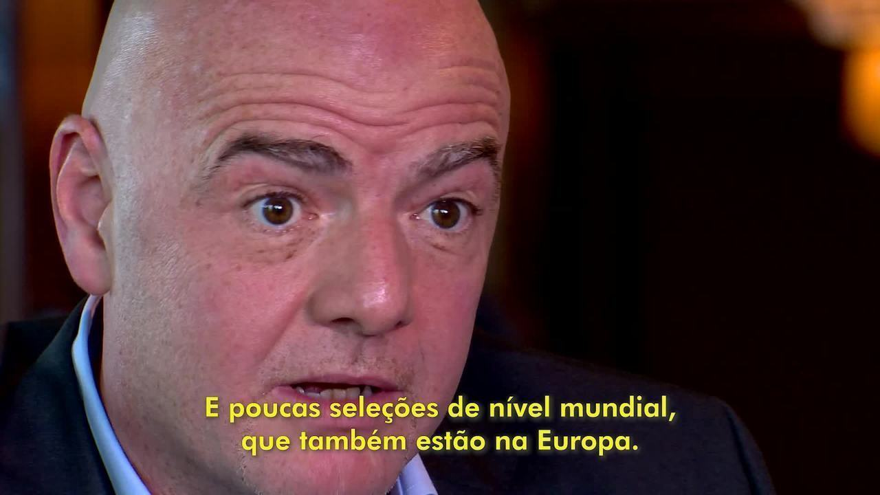 Infantino says that there is a serious problem between clubs in Europe and the rest of the world  t