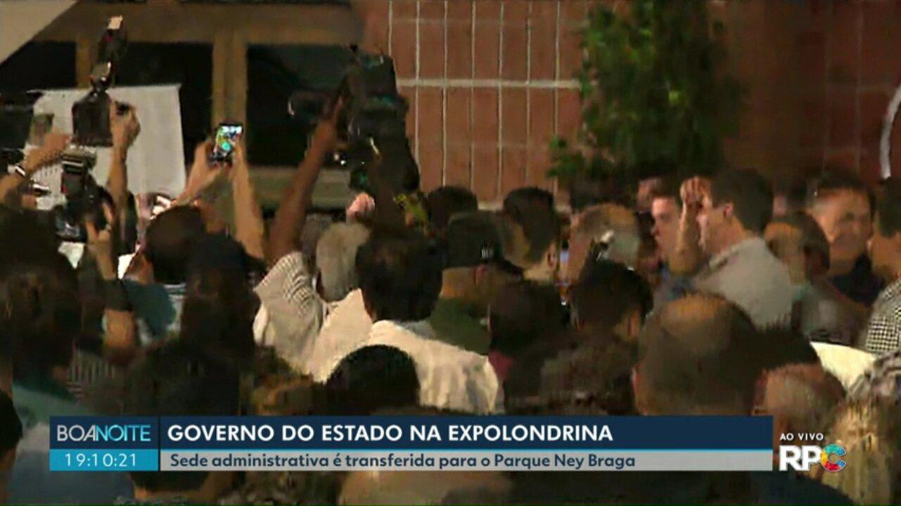 Sede administrativa do Governo é transferida para o Parque Ney Braga