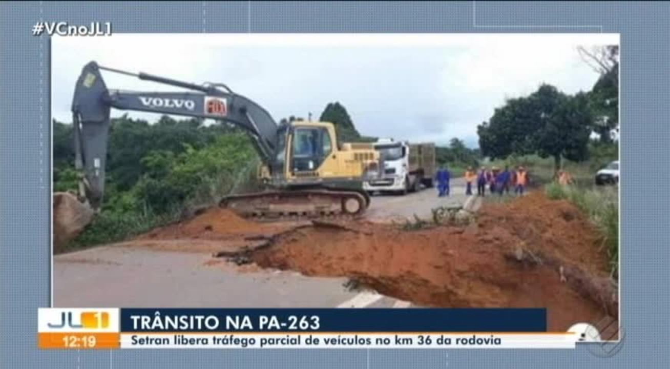 Tráfego da PA-263 é reestabelecido no sudeste do Pará