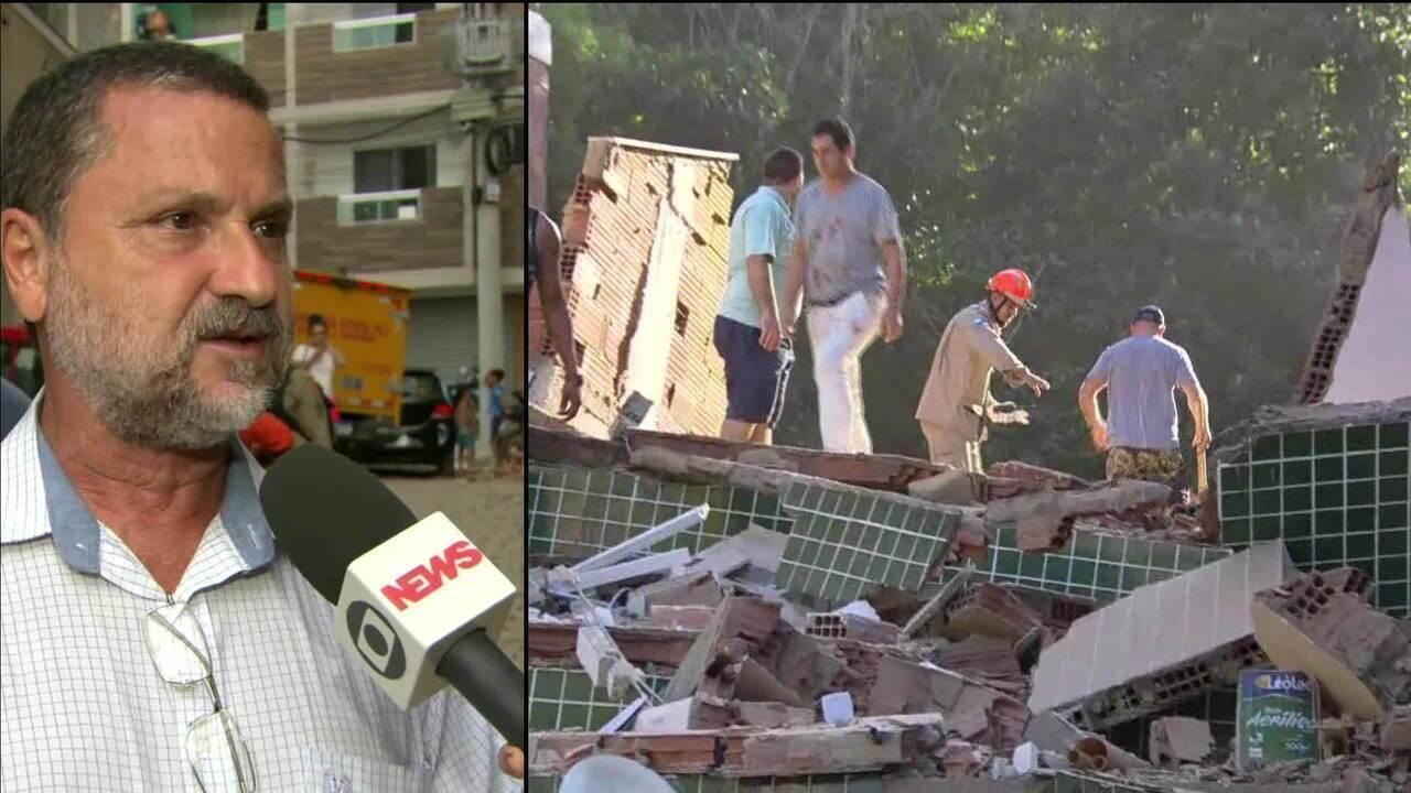 Secretário de Infraestrutura do Rio diz que imóveis foram interditados após desabamento