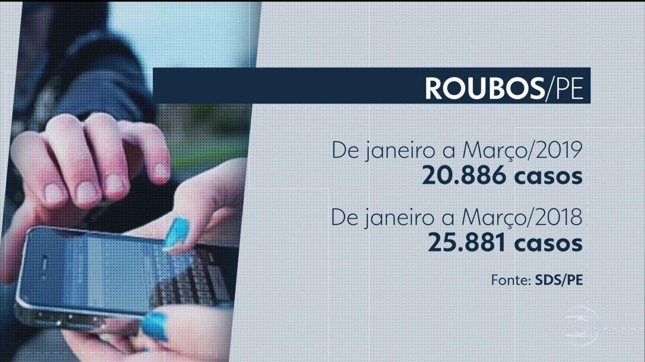 Secretaria de Defesa Social (SDS) aponta queda no número de roubos em Pernambuco