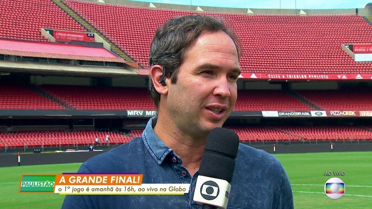 Caio Ribeiro analisa final entre São Paulo e Corinthians