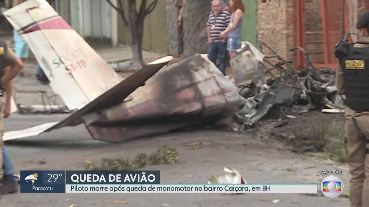 Queda de monomotor causa uma morte no bairro Caiçara, em Belo Horizonte
