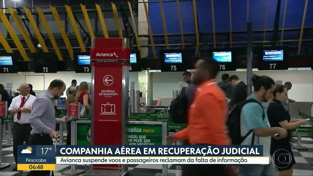 Avianca cancela 7 voos em Guarulhos devido a recuperação judicial