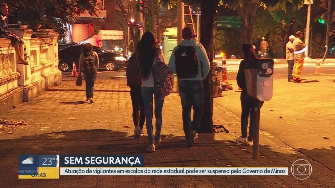 Governo de Minas pretende cancelar serviço de segurança nas escolas do estado