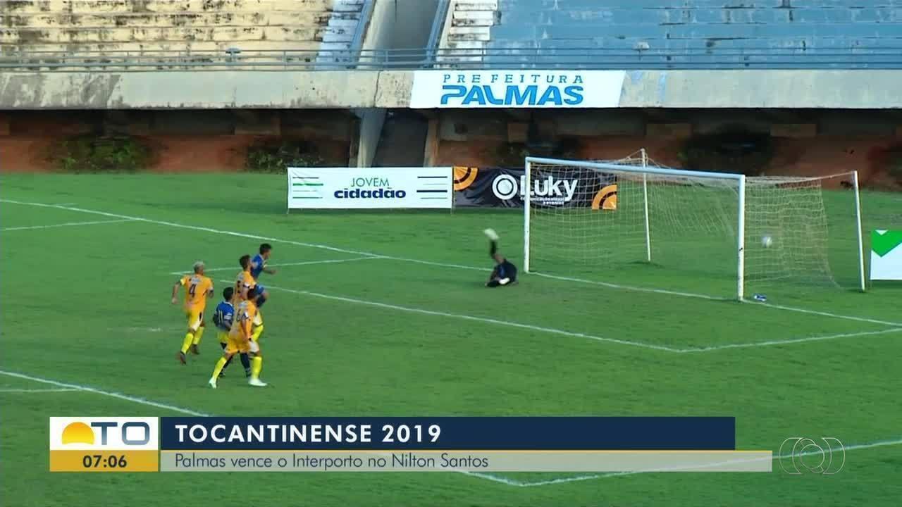 Palmas vence o Interporto no estádio Nilton Santos pelo Campeonato Tocantinense