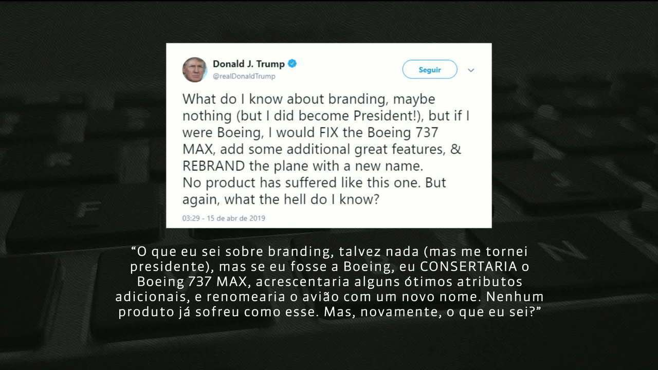 Trump sugere trocar marca de aviões 737 da Boeing após acidentes