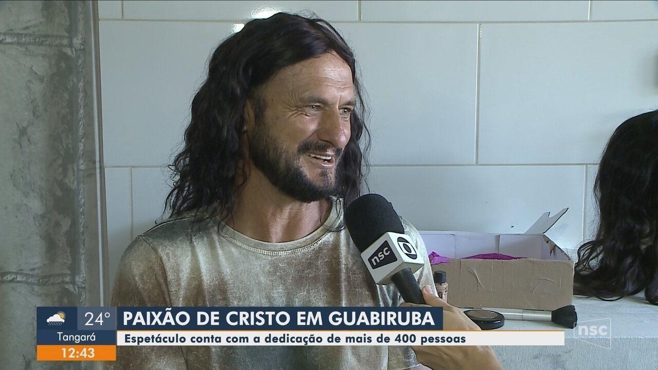Encenação da Paixão de Cristo de Guabiruba conta com mais de 400 participantes