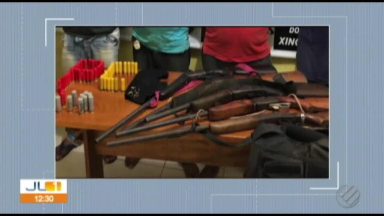 Homens são presos com armas e munições em Redenção