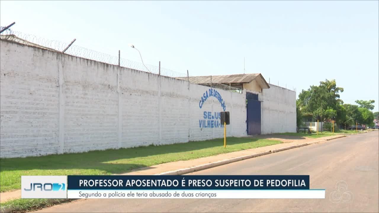 Professor de Vilhena é preso suspeito de pedofilia