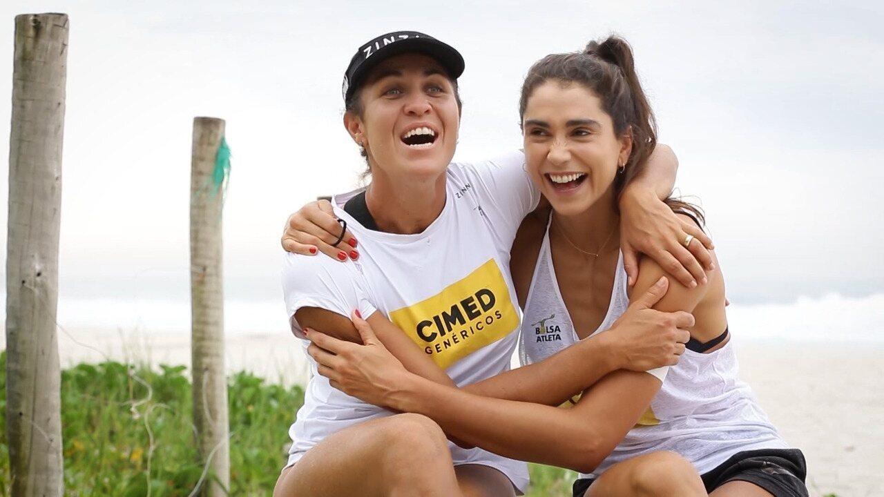 Atletas no vôlei de praia, Maria Elisa e Carol comentam expectativas para as Olimpíadas